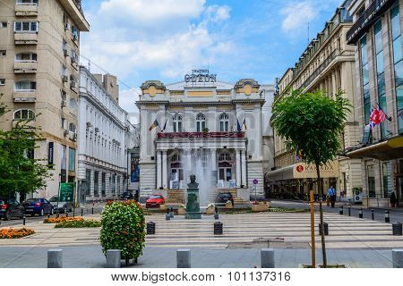 Bucharest, Romania - August 30, 2015: The Odeon Theater Is One Of The Best-known Performing Arts Ven