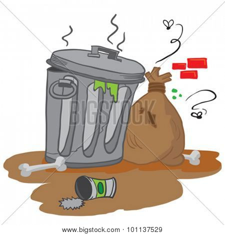 garbage cartoon illustration
