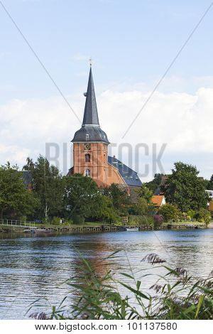 Baroque church Saint Peter at Osten on the Oste river