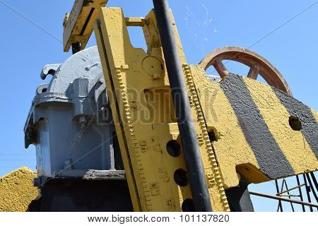 Balance Weight And Reducer The Pumping Unit Of An Oil Well.