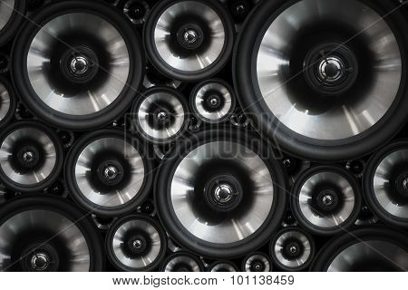 Hi fi audio stereo system sound speakers background