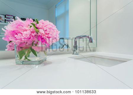 Interior design of a luxury bathroom