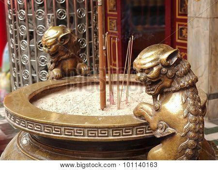Large Bronze Incense Burner