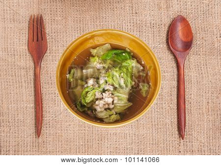 Soup Made From Pork And Vegetable