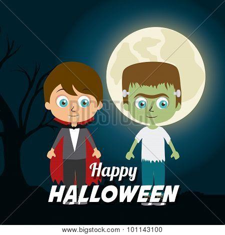 Happy halloween festival party design.