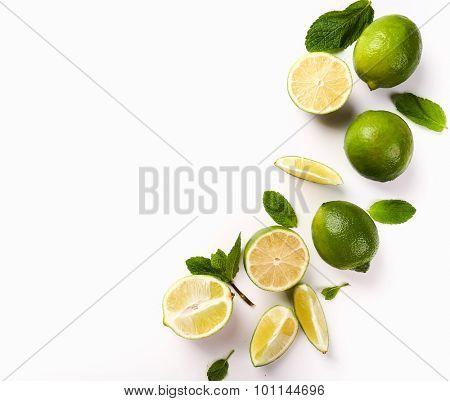 Citrus. Lime on the table