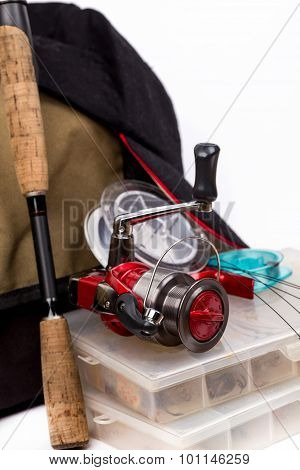 Fishing Tackles And Lure In Box