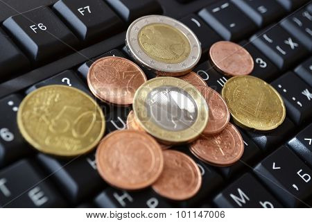 Coins On The Keyboard