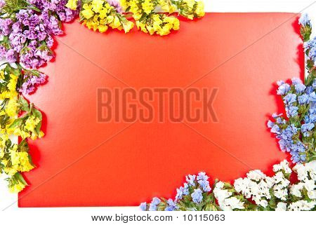 Red Card With Flowers