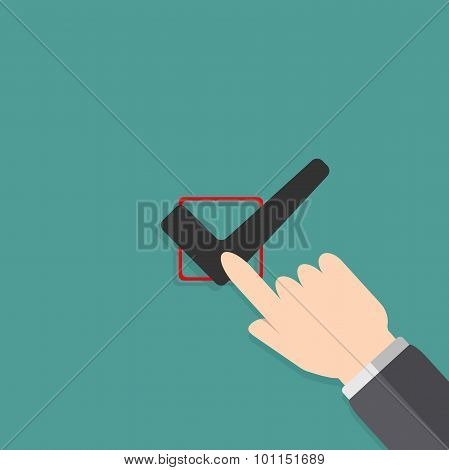 Hand Filling Check Box