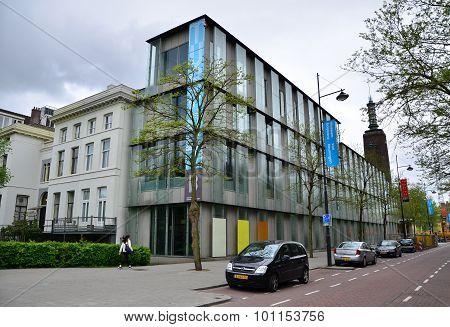 Rotterdam, Netherlands - May 9, 2015: People Visit Museum Boijmans Van Beuningen In Rotterdam