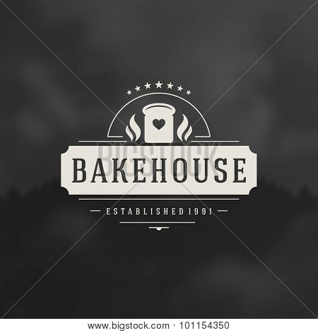 Bakery Shop Logo Design Element