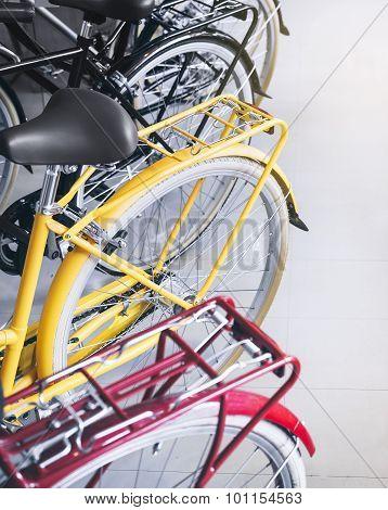 Bicycles Wheel and Saddle Stylish Hipster Urban Transportation