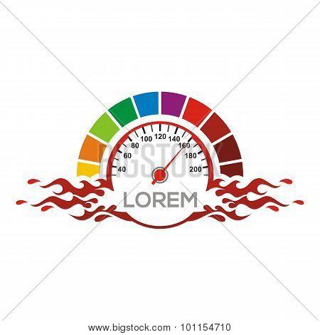 Logo Speedometer design vector