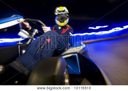 Go-cart Racing Driver