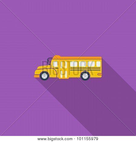 School bus flat icon.