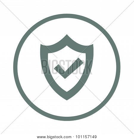 Security Shield - Button - Safety concept symbol. Security shield concept icon. Stock illustration f