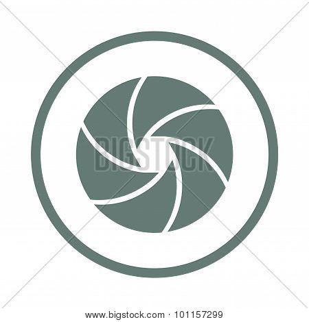 Camera Shutter Concept Icon. Stock Illustration Flat Design Icon.