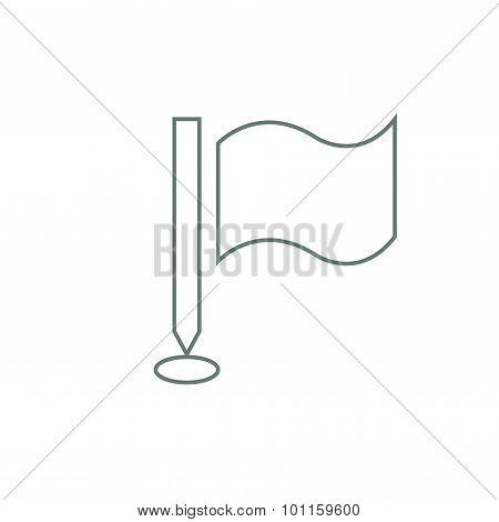 Waving Flag Icon. Milestones Concept Icon. Stock Illustration Flat Design Icon.
