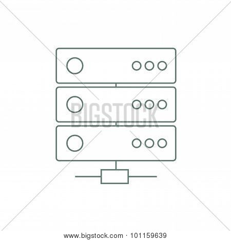 Network Infrastructure - Button - Cloud Computing Concept Background - Stock Illustration..