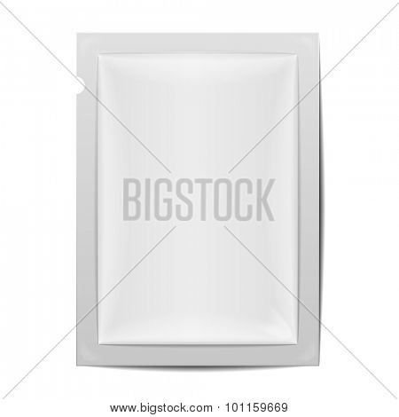 detailed illustration of a blank foil packaging template, eps10 vector