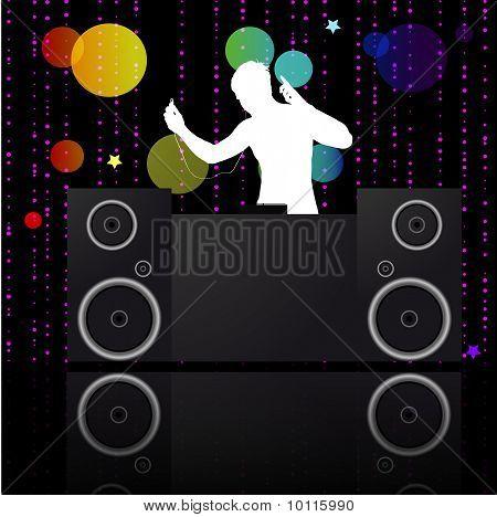 Cartaz de música.DJ.