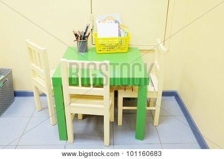 Children zone in a paediatrician clinic