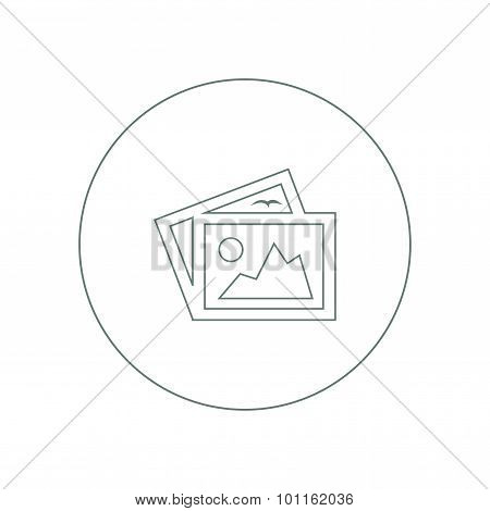 Image - Button - Icon Of Image Photo. Stock Illustration Flat Design Icon...
