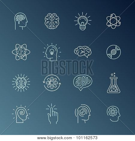 Brain And Mind Icons