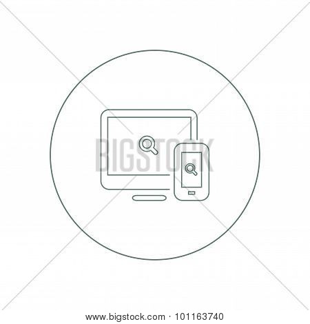 Web & Apps - Button - Abstract flat illustration of web design and development Elements for mobile