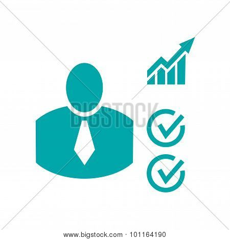 Business Metrics Concept icon - Stock Illustration flat design icon