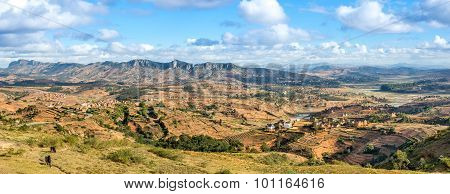 Panoramic View At The Madagascar Countryside