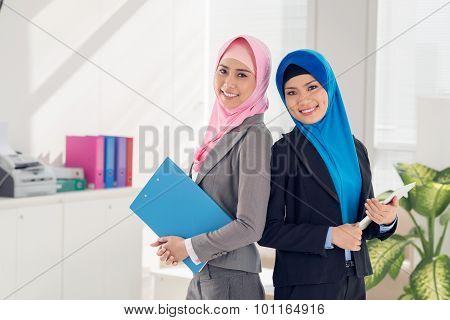 Businesswomen With Documents