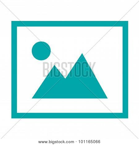 Image - Button - Icon Of Image Photo. Stock Illustration Flat Design Icon.