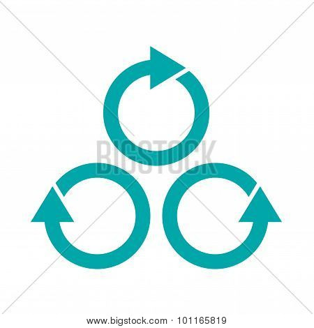 Parallel Processes Concept Icon. Stock Illustration Flat Design Icon.