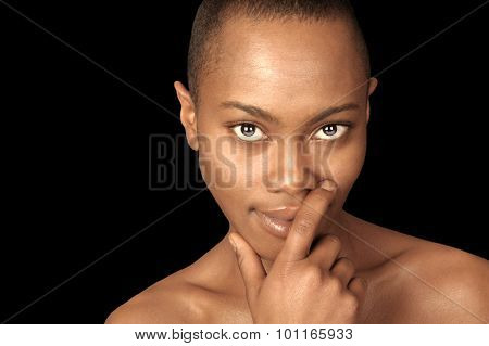 Beautiful Isolated Image of a afro American Woman