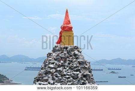 Old Stone Pagoda At Srichang Island,thailand
