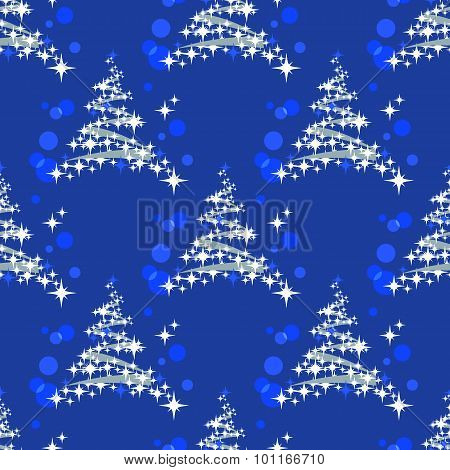 fir tree seamless pattern