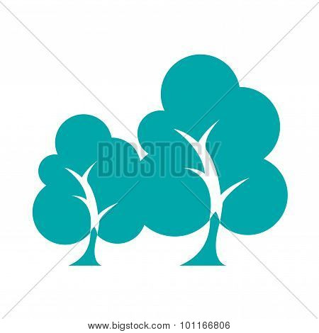 Sustainability - Button - Stock Illustration - Sustainability Concept Icon - Trees Icon