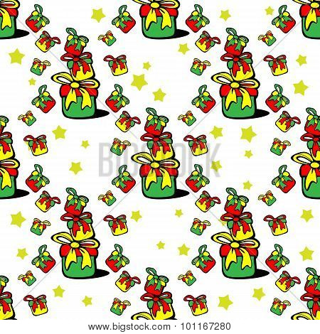 gifts seamless pattern