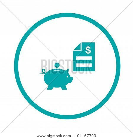 bank & finance icons ( signs ) related to money- vector graphic. This illustration also represents s