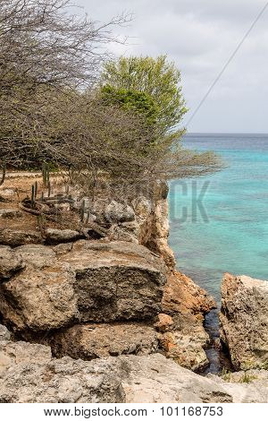 Eroded Coast Of Curacao