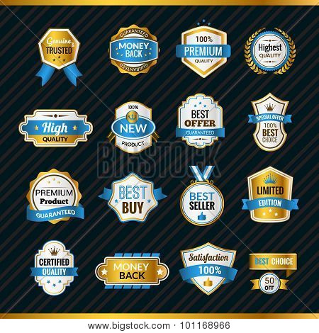 Luxury Labels Gold And Blue