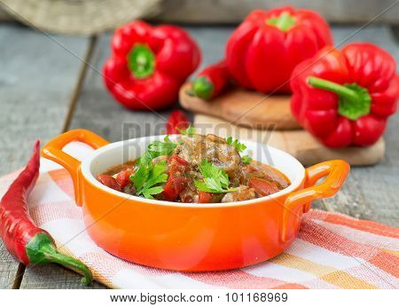 Chashushuli - Spicy Meat Stew With Vegetables. Georgian Dishes.