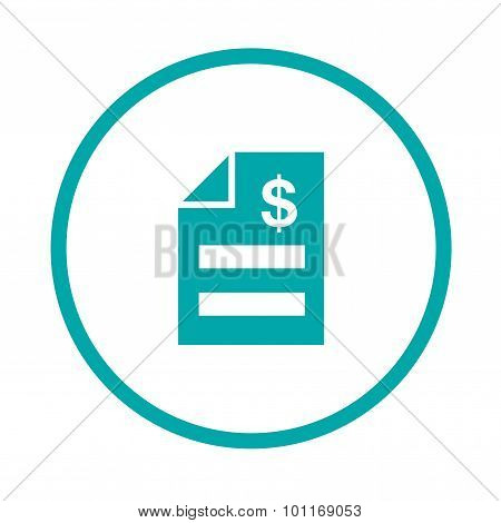 Invoice Concept. Bill Icon.