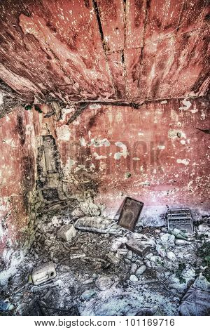 Interior View Of An Abandoned House