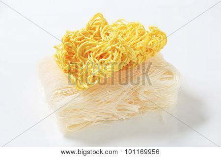 Asian wheat and rice instant noodles