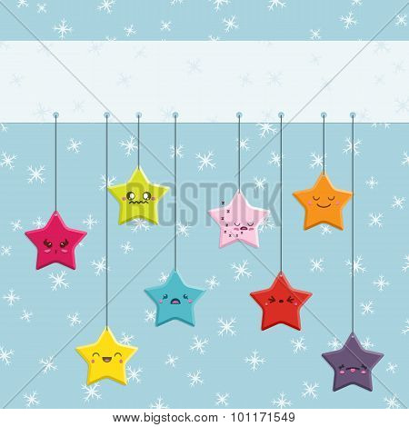 Cartoon Kawaii Hanging Stars