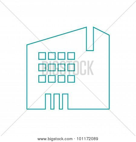 Mid-sized Building Concept Icon. Building Concept Icon. Stock Illustration Flat Design Icon...