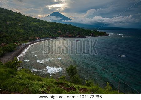 Northeastern coastline of the island of Bali, Indonesia